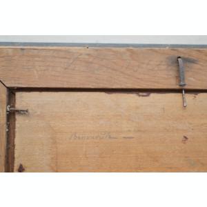 Pictura veche ulei pe lemn