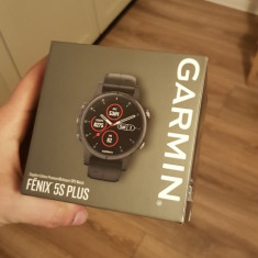 Garmin Fenix 5S Plus, Aluminiu