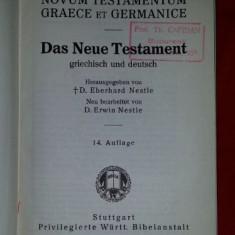 Noul Testament in greaca si germana (ed. E. Nestle 1935)