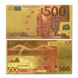 EUROPA - 500 EURO  - BANCNOTA POLYMER (PLASTIC) PLACATA CU AUR 24 K