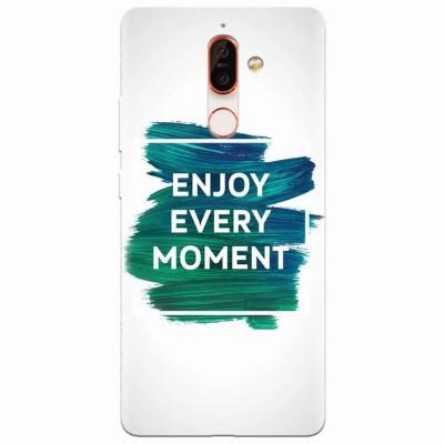 Husa silicon pentru Nokia 7 Plus, Enjoy Every Moment Motivational foto