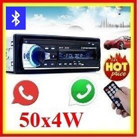 Casetofon Auto Bluetooth USB MP3 player Radio Telefon Telecomanda 50w