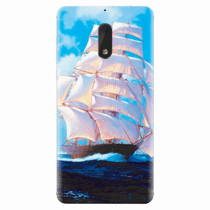 Husa silicon pentru Nokia 6, Attractive Art Of Ships
