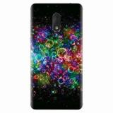 Husa silicon pentru Nokia 6, Rainbow Colored Soap Bubbles
