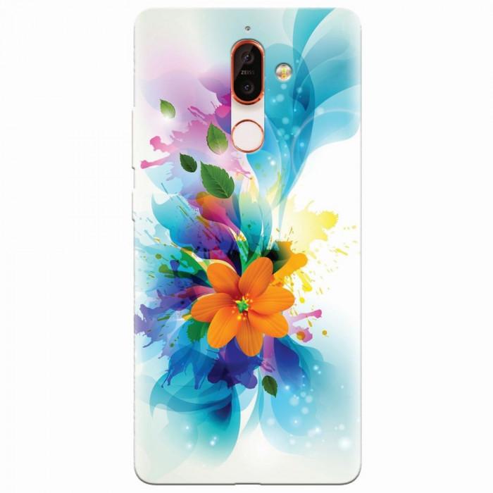 Husa silicon pentru Nokia 7 Plus, Flower 011