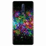 Husa silicon pentru Nokia 8, Rainbow Colored Soap Bubbles