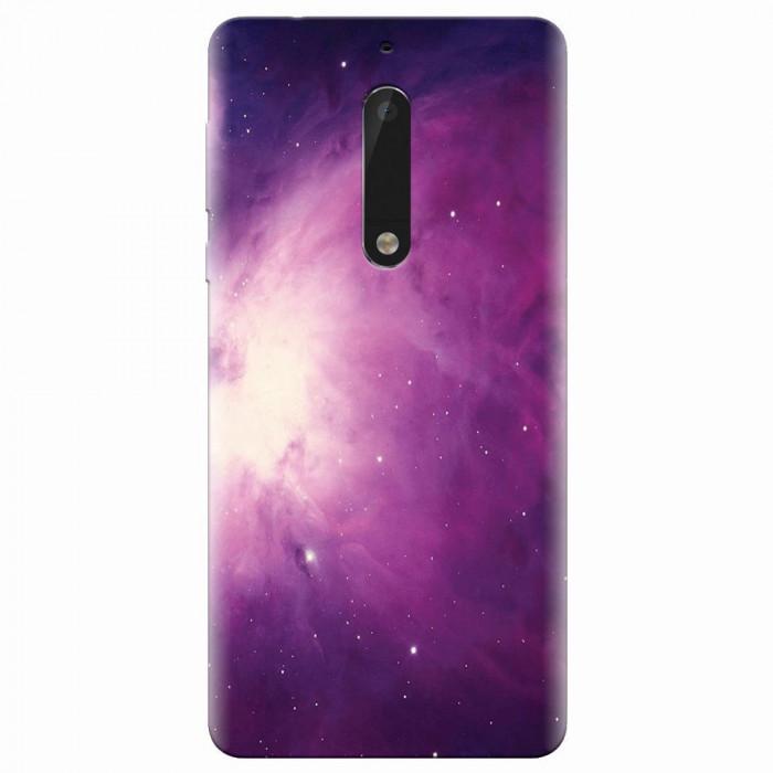 Husa silicon pentru Nokia 5, Purple Supernova Nebula Explosion