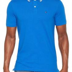 Tricou Tommy Jeans Essential Detail Polo Slim Fit, Slim Fit, culoare Albastru, marime XXL