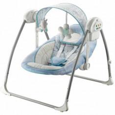 Balansoar electric portabil Baby Mix 0m+ Albastru