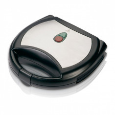 Aparat de sandwich cu acoperire marmura SAPIR SP 1442 AKM, 750 W, Placi grill, Negru