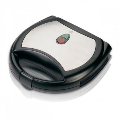 Aparat de sandwich cu acoperire marmura SAPIR SP 1442 AKM, 750 W, Placi grill, Negru foto