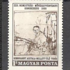 Ungaria.1969 Congres international de istoria artei-Gravura  PH.90