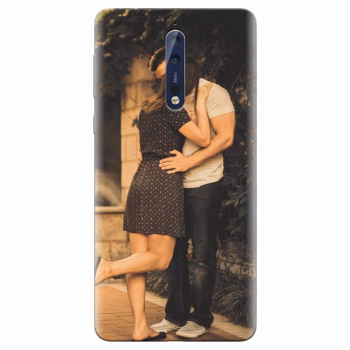 Husa silicon pentru Nokia 8, Couple Kiss