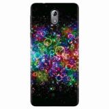 Husa silicon pentru Nokia 3.1, Rainbow Colored Soap Bubbles