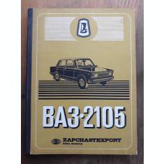 LADA BA3.2105 / CARTE TEHNICA, IN 5 LIMBI, 1979