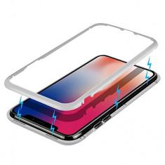 Husa magnetica, argintie, pentru iPhone XR
