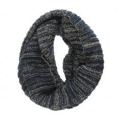 Fular bleumarin, tricotat