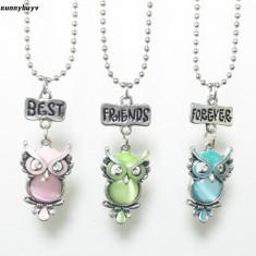 Pandantive / Coliere / Lantisoare / Medalioane- SET 3  Best Friends - Bufnite