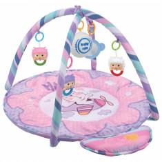 Saltea de joaca muzicala Baby Mix Happy Bear Pink