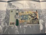100 Lei 2018 Romania - 100 Ani Marea Unire + 50 Bani 2018 din fisic, in capsula