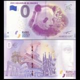 !!!  0 EURO SOUVENIR - SPANIA , MADRID - ZOO  AQUARIUM , PANDA  - 2018.1 - UNC