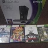 Consola Xbox 360 4GB + Kinetic sensor + 2 console + 4 jocuri Xbox