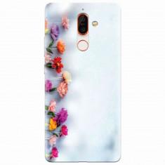 Husa silicon pentru Nokia 7 Plus, Flowers