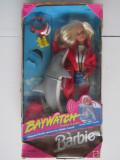 Papusa Barbie-Baywatch-Lifeguard-Salvamar-Delfin-Dolphin-2000-Mattel 13199-NOU, Plastic