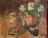 TABLOU, SORIN ADAM , NATURA STATICA CU PIPA, U/P, 1995