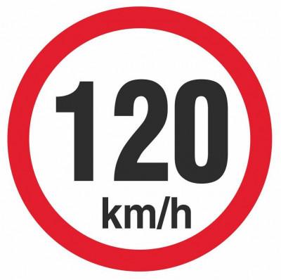 Autocolant reflectorizant, Automax, pentru limitare de viteza, 120 km/h 5201-120 foto