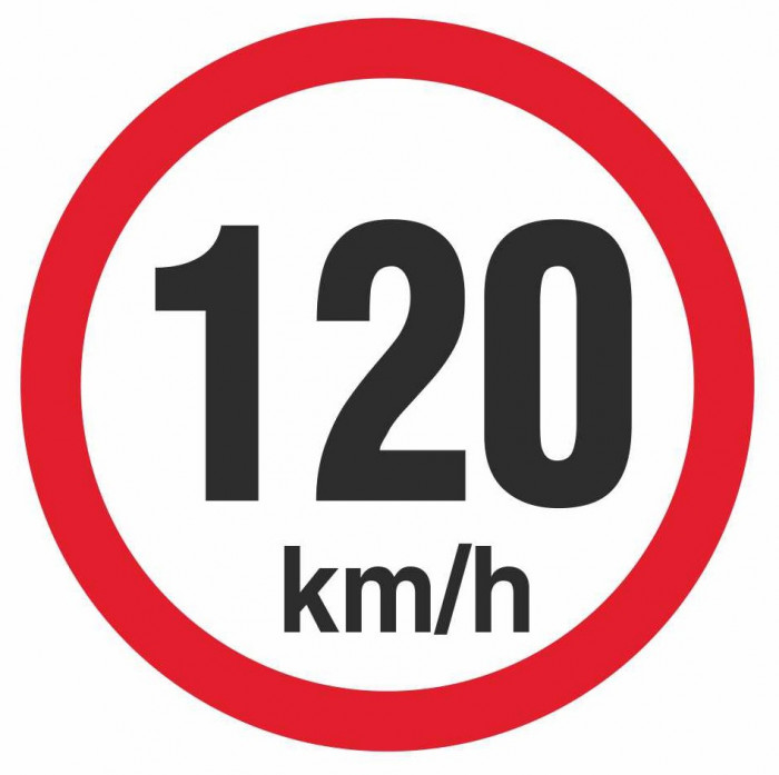 Autocolant reflectorizant, Automax, pentru limitare de viteza, 120 km/h 5201-120