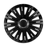 "Set 4 Capace Roti VERSACO ACTIVE RC BLACK 14"" V1785"