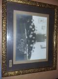 Fotografie veche,rama Originala,Foto SC.STANESCU Buzau,Clasa VIII Teologie,1928