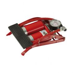 Pompa Aer de Picior Automax cu 2 Pistoane si Manometru 6018