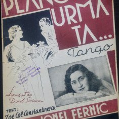 Plang in urma ta/ tango de Jonel Fernic// partitura