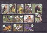 REZERVATIA CEAHLAU;PASARI ANIMALE FLORI,SERIE COMPLETA,2016,MNH,ROMANIA, Fauna, Nestampilat