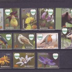 REZERVATIA CEAHLAU;PASARI ANIMALE FLORI, SERIE COMPLETA, 2016, MNH, ROMANIA - Timbre Romania, Fauna, Nestampilat