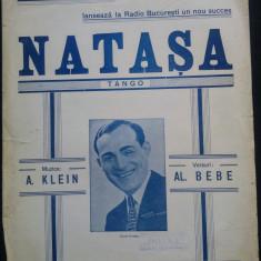 Natasa/ tango de A. Klein// partitura
