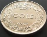 Moneda 100 Lei - ROMANIA, anul 1944   *cod 4512  XF+++