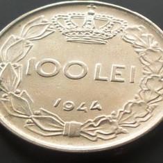 Moneda 100 Lei - ROMANIA, anul 1944 *cod 4512 XF+++ - Moneda Romania