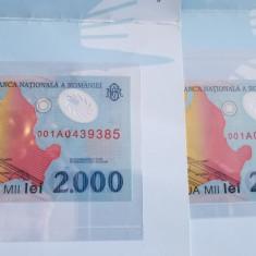 BANCNOTA 2000 LEI ECLIPSA - Bancnota romaneasca