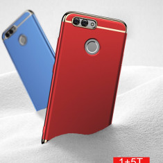 Bumper / Husa Luxury 3 in 1 pentru OnePlus 5T / One Plus 5T - Husa Telefon, Negru, Plastic, Carcasa