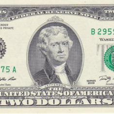Bancnota Statele Unite ale Americii 2 Dolari 2009 (