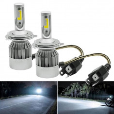 Kit led h4  C9 auto 6000k ,12000 lumen,72w 12-24v