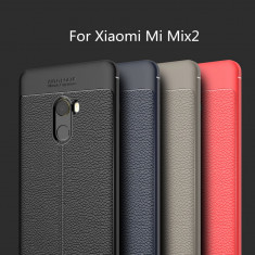 Husa / Bumper Antisoc model PIELE pentru Xiaomi Mi Mix 2, Alt model telefon ZTE, Negru
