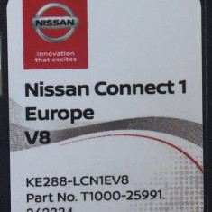 SD Card original navigatie NISSAN Connect 1 V8 Europa + ROMANIA 2018