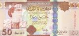 Bancnota Libia 50 Dinari (2008) - P75 UNC ( seria 1 - Muammar al-Gaddafi )