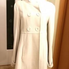 Palton elegant S/M, croi modern, superb - Palton dama, Culoare: Crem