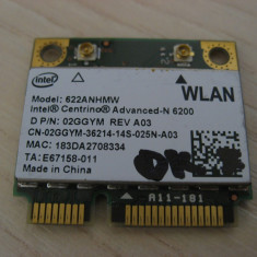 Placa wireless Dell 02GGYM REV A03,  Intel Centrino Advanced-N 6200, 622ANHMW