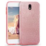 Husa Samsung Galaxy J7 2017 Shiny TPU Sclipici - Bonus Folie Ecran, Alt model telefon Samsung, Roz, Gel TPU